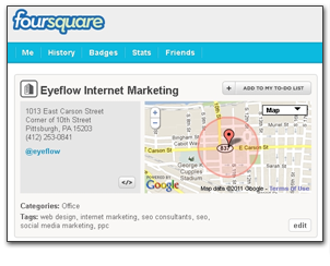 fourquare profile Local Marketing