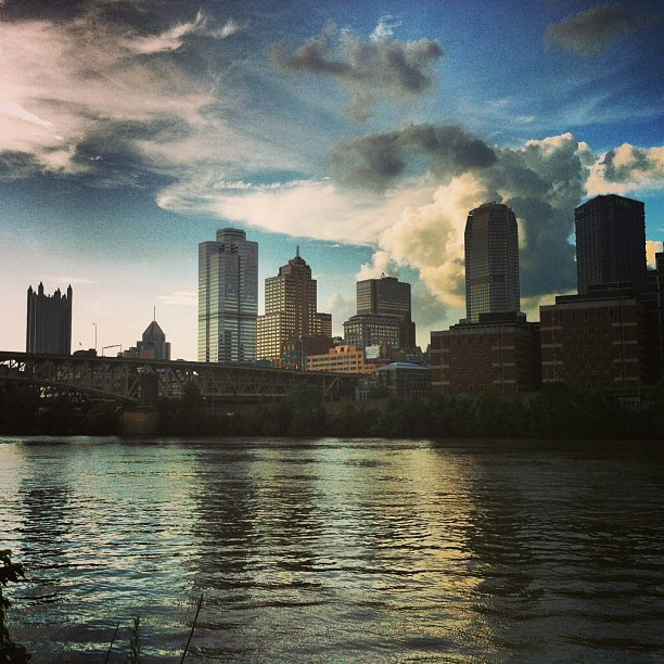 Pittsburgh Skyline from the Souths Side River Trail